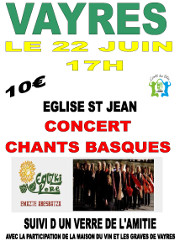 Concert chants basques